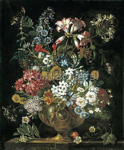 Pieter Casteels III: Die zwölf Monate. Ein floraler Kalender - Oktober. 1730-31