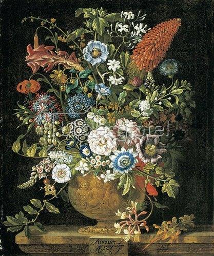 Pieter Casteels III: Die zwölf Monate. Ein floraler Kalender - August. 1730-31