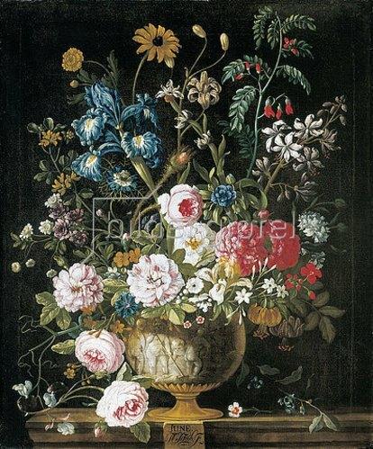 Pieter Casteels III: Die zwölf Monate. Ein floraler Kalender - Juni. 1730-31