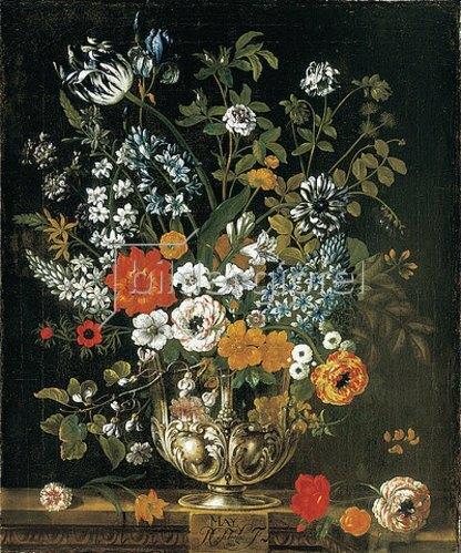 Pieter Casteels III: Die zwölf Monate. Ein floraler Kalender - Mai. 1730-31