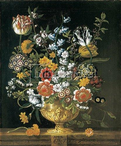Pieter Casteels III: Die zwölf Monate. Ein floraler Kalender - April. 1730-31