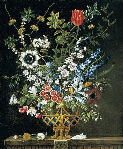 Pieter Casteels III: Die zwölf Monate. Ein floraler Kalender - Februar. 1730-31