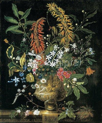 Pieter Casteels III: Die zwölf Monate. Ein floraler Kalender - Januar. 1730-31