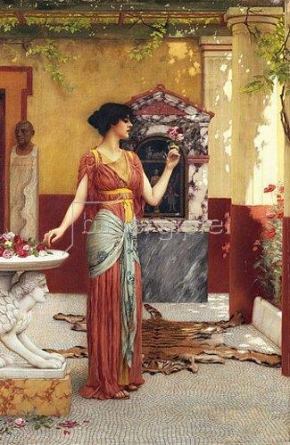 John William Godward: Der Blumenstrauß. 1899
