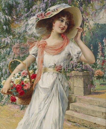 Emile Vernon: Das Blumenmädchen.