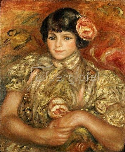 Auguste Renoir: Mädchen mit Rose.