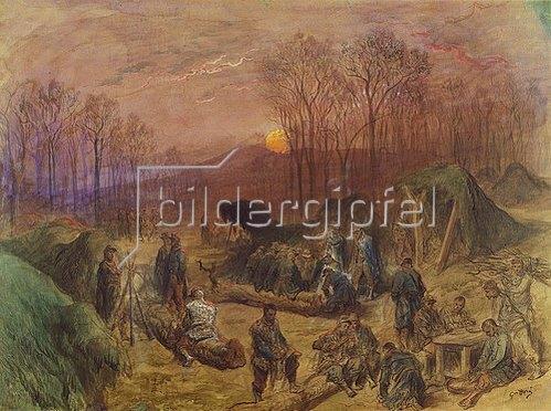 Gustave Doré: Ein Militärlager.