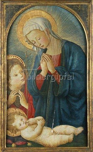 Pseudo Pier Francesco Fiorentino: Madonna mit Kind und Johannes dem Täufer.