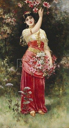 Emile Eisman Semenowsky: Ein orientalisches Blumenmädchen.
