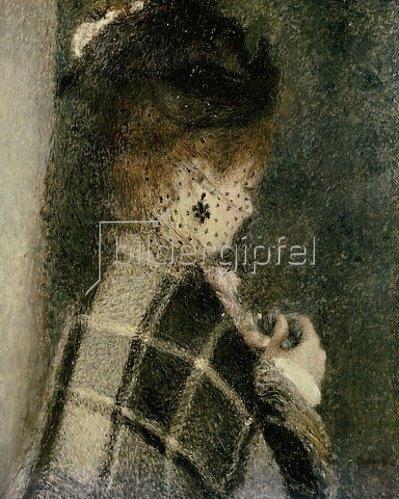 Auguste Renoir: Junge Frau mit Schleier. Um 1875