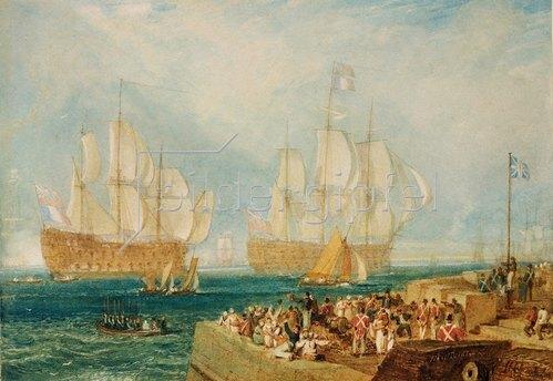Joseph Mallord William Turner: Der Hafen in Plymouth.