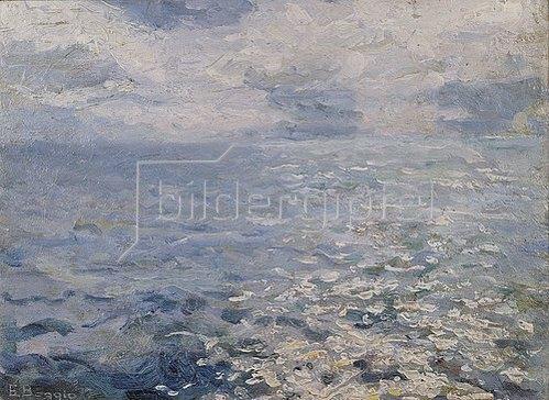 Emilio Boggio: Sonnenschein auf dem Meer (Studie).