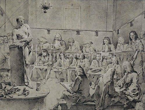 Giovanni Battista Tiepolo: In der Akademie: Künstler beim Aktzeichnen.