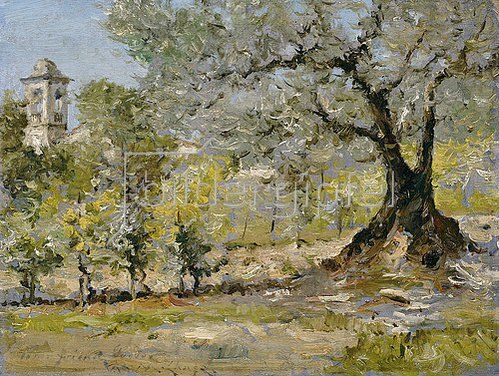 William Merrit Chase: Olivenbäume bei Florenz.