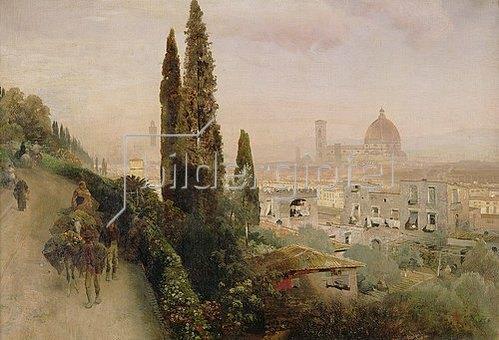 Oswald Achenbach: Florenz.