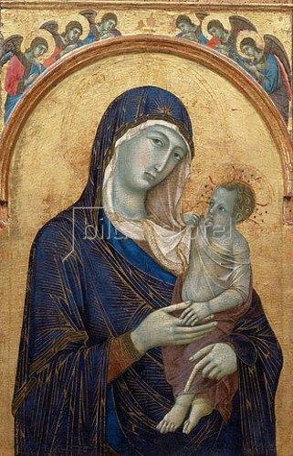 Duccio di Buoninsegna: Madonna mit Kind. 1300