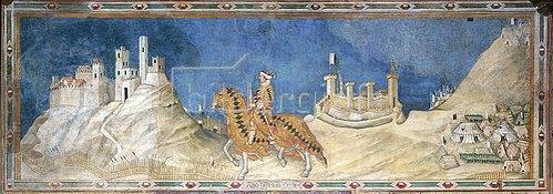 Simone Martini: Guidoriccio da Fogliano. Um 1328