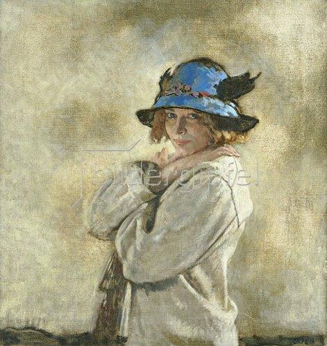 Sir William Orpen: Der blaue Hut.