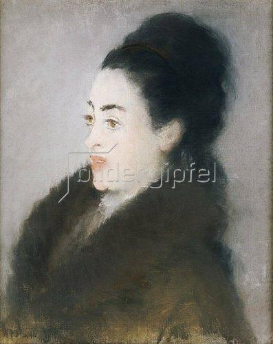 Edouard Manet: Dame in einem Pelzmantel. 1879