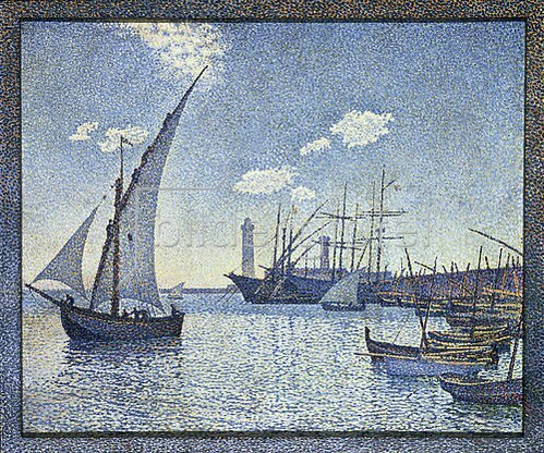 Theo van Rysselberghe: Port De Cette, Les Tartanes. 1892