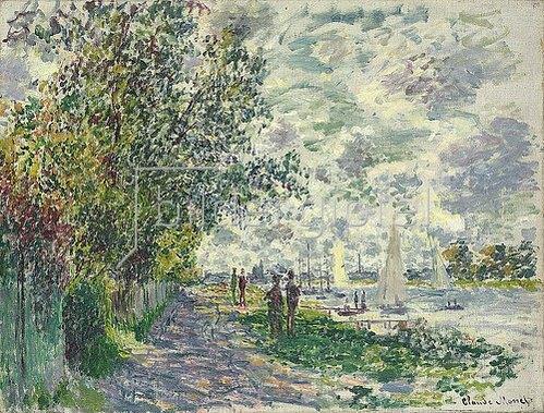 Claude Monet: Das Seine-Ufer bei Petit-Gennevilliers. 1875