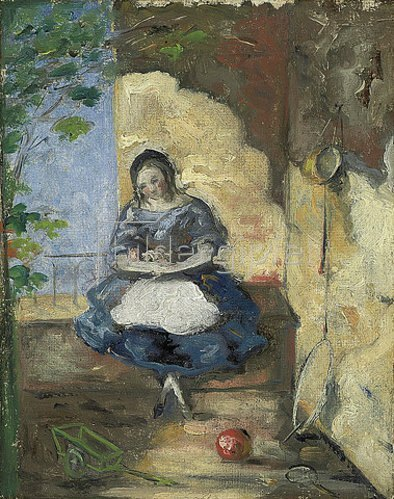 Paul Cézanne: Kleines Mädchen (Fillette). 1872-73