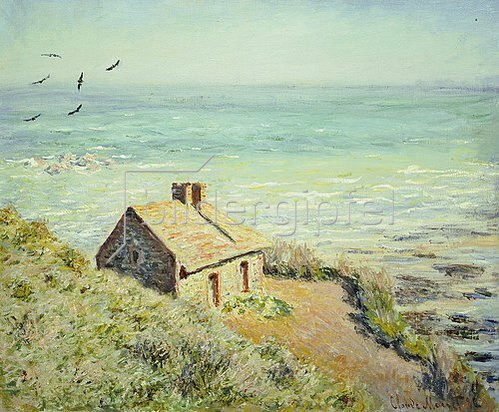 Claude Monet: Das Zollhäuschen im Morgenlicht. 1882