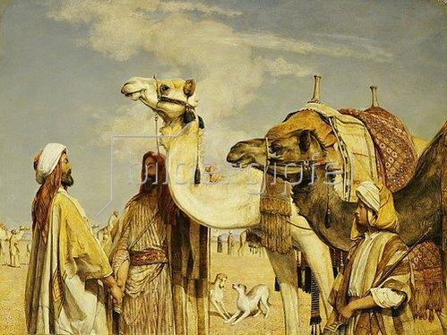 John Frederick Lewis: Begrüßung in der Wüste.