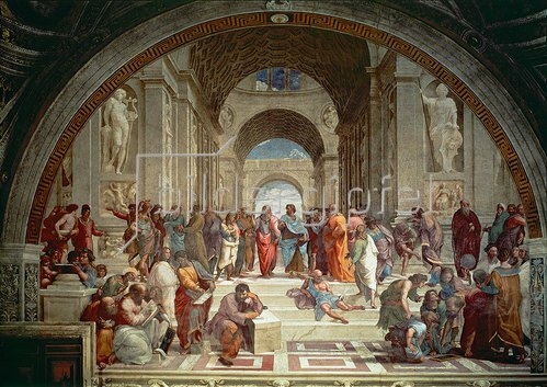 Raffael (Raffaello Sanzio): Die Schule von Athen. 1509/1510.