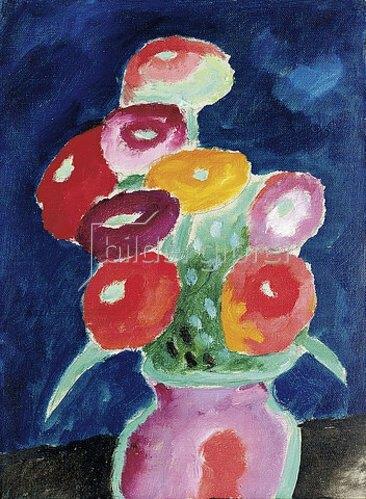 Alexej von Jawlensky: Blumen in einer Vase. 1918