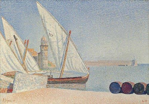 Paul Signac: Collioure, les Balancelles. 1887