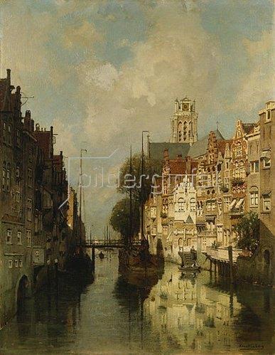 Johannes Christiaan Karel Klinkenberg: Ansicht des Voorstraathaven, Dordrecht.