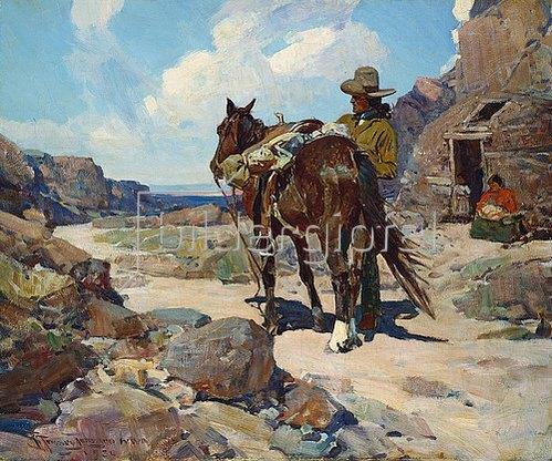 Frank Tenney Johnson: Zurück von der Handelsstelle. 1930
