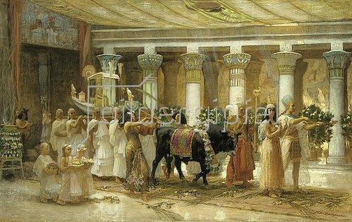 Frederick Arthur Bridgman: Die Prozession des heiligen Stieres. Um 1879