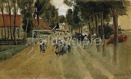 Max Liebermann: Dorfstraße mit Kindern in Zweeloo. 1882