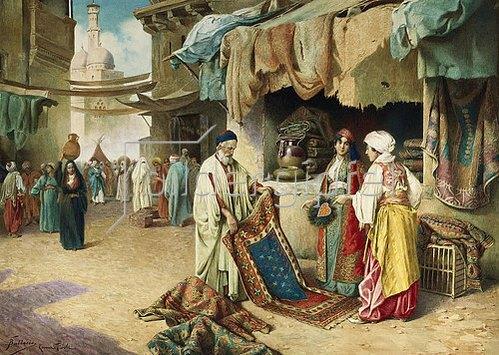 Federico Ballesio: Beim Teppichhändler.