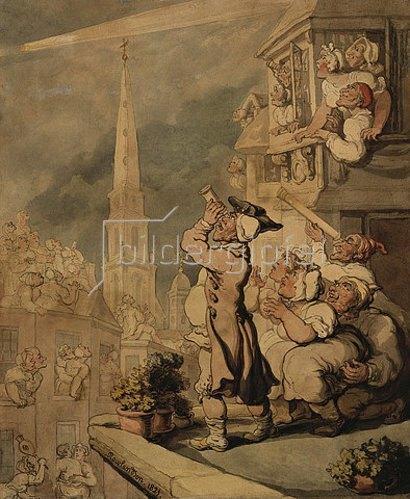 Thomas Rowlandson: Der Komet. 1821