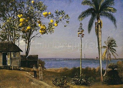 Albert Bierstadt: Tropische Landschaft.