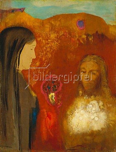 Odilon Redon: Christus und die Samariterin.