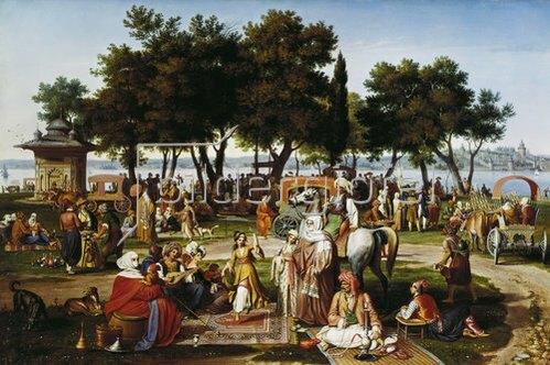 Johann Michael Wittmer: An den süßen Wassern Asiens. 1837.