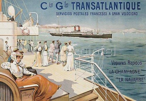 Ernest Louis Lessieux: Cie. Gle. Transatlantique. Um 1910