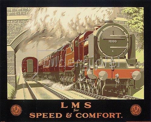 Murray Secretan: LMS for Speed and Comfort. (gedruckt bei McCorquodale Co. Ltd., London)