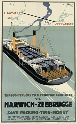 Henry George Gawthorn: Harwich-Zeebrugge. (gedruckt bei Adams Bros. and Shardlow, Ltd.)