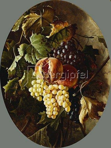 Michelangelo Meucci: Granatäpfel und Weintrauben.