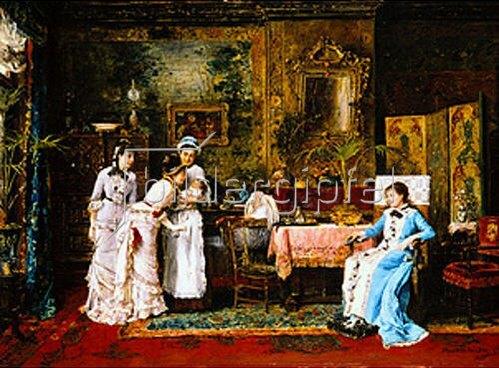 Mihály Munkácsy: Besuch bei der Wöchnerin. 1879.