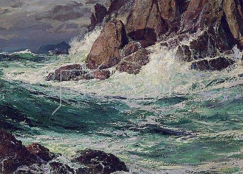 Edward Henry Potthast: Stürmische See. 1923