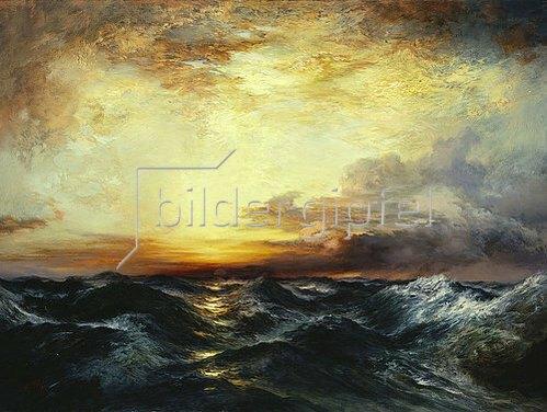 Thomas Moran: Sonnenuntergang über dem Pazifik. 1907
