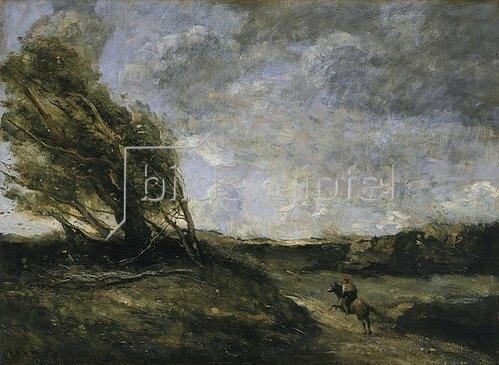 Jean-Baptiste Camille Corot: Ein windiger Tag.