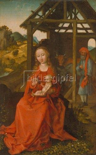 Martin Schongauer: Die heilige Familie.