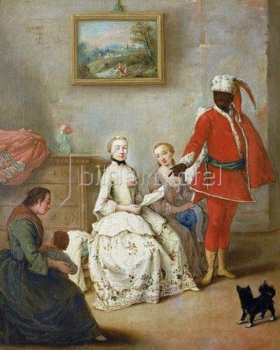 Pietro Longhi: Der Brief des Mohren. Um 1750